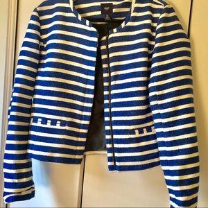Gap Women's Tweed Blue & White Blazer
